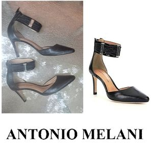 Antonio Melani Pointed Toe Ankle Strap Pumps